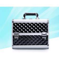ขาย กระเป๋าเก็บเครื่องสำอาง ขนาด 31 21 25 ซม สีดำ Unbranded Generic