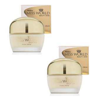 ครีมนางงาม มิสทีน มิสเวิลด์ บิวตี้ เฮิร์บ 35 กรัม (2 ชิ้น) / Mistine Miss World Beauty Herb Facial Cream 35 g. (2 pieces)