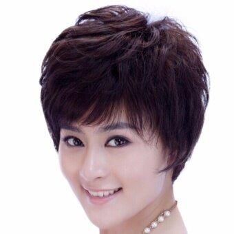 วิกผมสั้น (รหัส2056 #4)cala wigs เส้นไหมทนความร้อนสูงจากเกาหลีอย่างดี100%