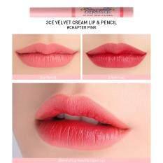 ส่วนลด 3Ce Studio Velvet Cream Lip Pencil Chapter Pink ลิปสติกพร้อมลิปดินสอ 3Ce