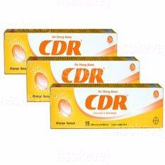 โปรโมชั่น 3หลอด Cdr Calcium D Redoxon 15 เม็ด ซีดีอาร์ แคลเซี่ยมเม็ดฟู่ รสส้ม วิตามินซี ถูก