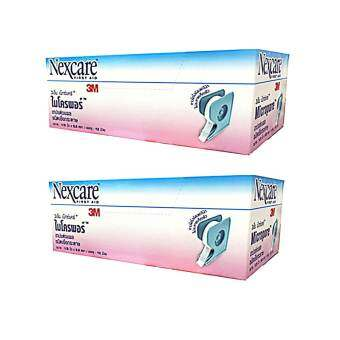 3M Nexcare First Aid Micropore 3เอ็ม เน็กซ์แคร์ ไมโครพอร์ เทปแต่งแผลชนิดเยื่อกระดาษขนาด:1/2นิ้วx5.5หลา บรรจุ:12ม้วน(2กล่อง)