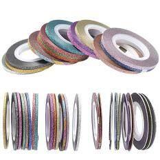 ราคา 42 Rolls Colorful Self Adhesive Nails Decoration Line Nail Art Striping Tape Line Sticker Decoration Accessories Intl ถูก