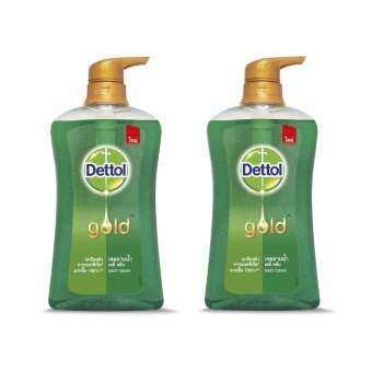 สบู่เหลว เดทตอล โกลด์ เจลอาบน้ำโกลด์เดลี่ คลีน 500 มล. (เขียว) - 2 ขวด