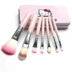 ซื้อ แปรงแต่งหน้า Hello Kitty Makeup Brush 7ชิ้น Pink ชมพู
