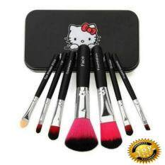 ราคา 7 Installed Hello Kitty Makeup Brush Set Black ดำ Unbranded Generic ใหม่