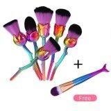 ซื้อ 7Pcs Set Makeup Cosmetic Loose Powder Blush Shadow Concealer Angled Round Mermaid Flower Brush Intl Unbranded Generic