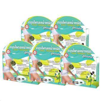 Abdomen Slim Super Slimming Herb สมุนไพรลดน้ำหนัก สูตรเร่งรัด 30 แคปซูล (5 กล่อง)-