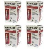 ราคา Accu Chek Performa Test Strip แอคคูเชต แผ่นตรวจน้ำตาล 4 กล่อง 25 ชิ้น กล่อง เป็นต้นฉบับ Accu Chek