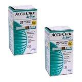 ขาย Accuchek Active Test Strips แถบตรวจระดับน้ำตาล แอคทีฟ 25 ชิ้น กล่อง 2 กล่อง Accu Chek ออนไลน์