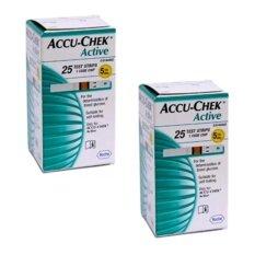 ขาย Accuchek Active Test Strips แถบตรวจระดับน้ำตาล แอคทีฟ 25 ชิ้น กล่อง 2 กล่อง อุดรธานี ถูก