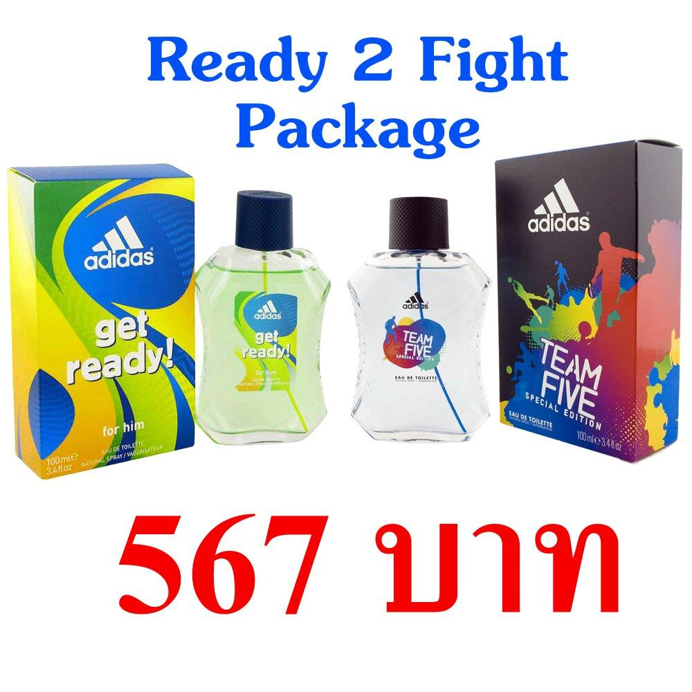 Adidas Get Ready for Men EDT 100 ml +  Adidas Team Five Special Edition 100 ml. < Ready 2 Fight >
