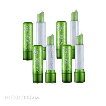 Aloe Vera 99% SoothingMoisture Lipstick ลิปบาล์มว่านหางจระเข้ เปลี่ยนสีชมพู บำรุงริมฝีปาก (4แท่ง)