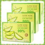 ซื้อ Aloe Vera Super Wink Soothing Moisture Aloe Vera Soap 99 ซุปเปอร์ วิ๊งค์ สบู่ว่านหางจระเข้เข้มข้น เพื่อผิวขาว กระจ่างใส ขนาด 80 กรัม 3ก้อน