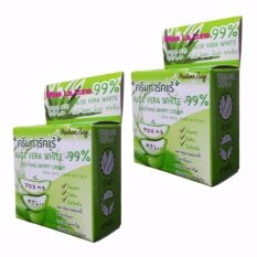 ซื้อ ครีมทารักแร้ขาว สูตรว่านหางจระเข้ Aloe Vera White Soothing Armpit Cream 99 ขนาด 5 กรัม 2 กล่อง Aloe ออนไลน์