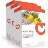 ซื้อ Amado S Garcinia อมาโด้ เอส กล่องส้ม รุ่นใหม่ ลดน้ำหนัก ดักไขมัน เร่งเผาผลาญ สร้างกล้ามเนื้อ ลดอ้วน ลดต้นแขน ต้นขา หน้าท้อง 3 กล่อง Amado