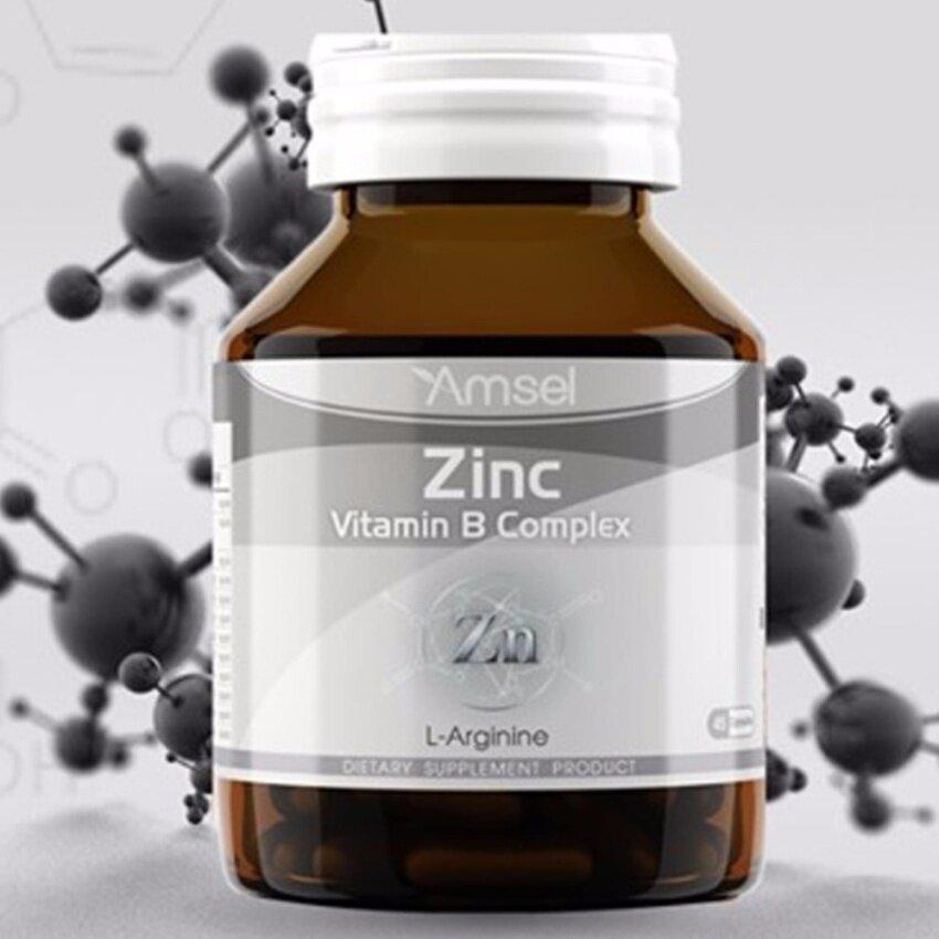 Amsel Zinc Vitamin Premix (แอมเซล ซิงค์ พลัส วิตามินพรีมิกซ์) 30 Capsules