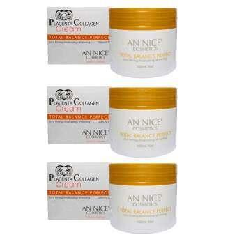 ครีมรกแกะ An Nice' Placenta Collagen Cream total balance perfect ขนาด 100 ml. จำนวน 3 กระปุก