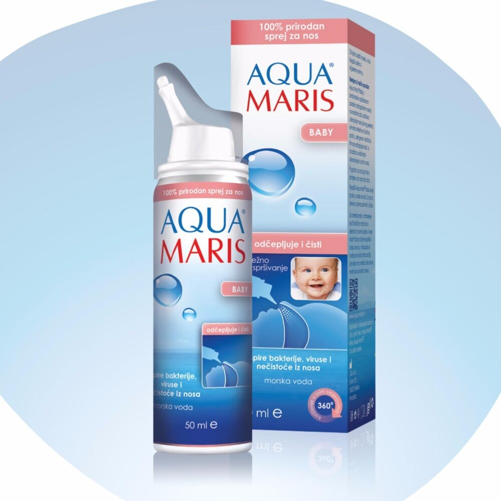 Aqua Maris Baby Natural Nasal Spray 50ml สเปรย์พ่นจมูก สำหรับเด็กอ่อน