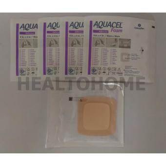 Aquacel Foam Adhesive แผ่นแปะแผลกดทับ 10x10 ซม. x5 ชิ้น-