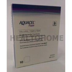ราคา Aquacel Foam Non Adhesive แผ่นแปะแผลกดทับ 10X10 ซม X10 ชิ้น ยกกล่อง Aquacel ใหม่