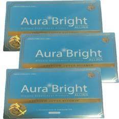 ราคา ราคาถูกที่สุด Aura Bright Premium Super Vilamin Allina สุดยอดวิตามินผิวขาวใส ลดสิว ลดริ้วรอย 3 กล่อง 45 แคปซูล
