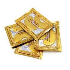 Aura Gold แผ่นมาส์คใต้ตา คอลลาเจนผสมทองคำบริสุทธิ์5คู่ เป็นต้นฉบับ