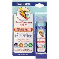 ขาย Badger Company All Season Face Stick Sport Sunscreen Spf 35 18 4 G ครีมกันแดดสำหรับทาหน้า ไทย ถูก