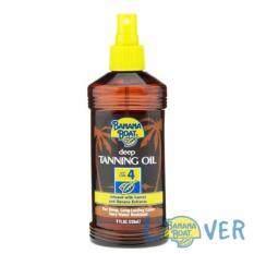 แทนนิ่งออยเปลี่ยนสีผิวแทนทองพร้อมปกป้องจากแสงแดด Banana Boat Deep Tanning Oil Spf4.