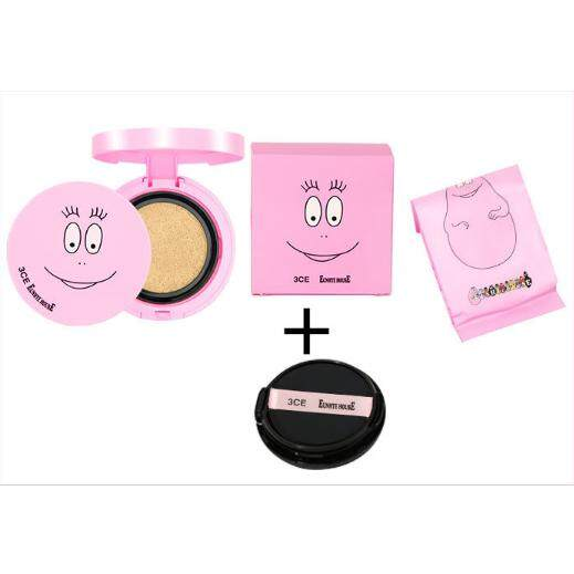 คุชชั่นBarbapapa 3CE x BARBAPAPA EUNHYE HOUSE Fitting Cushion Foundation