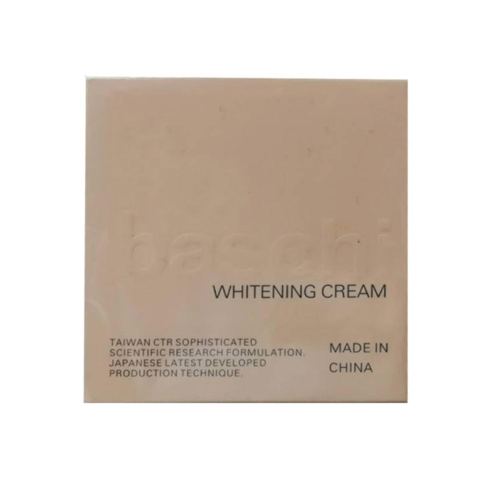 ลดแบบขาด  ทุน Baschi Whitening Day cream ครีมหน้าขาวใสบาชิ 15g (1 กระปุก) หน้าขาวใสเป็นธรรมชาติ
