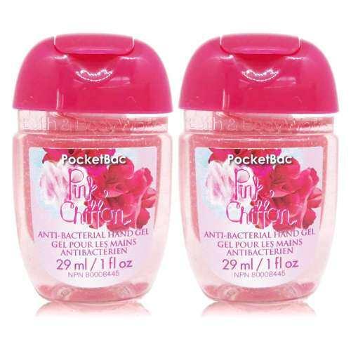 Bath & Body Works Pocket Bac Sanitizing Hand Gel กลิ่น Pink chiffon 29 ml. x2