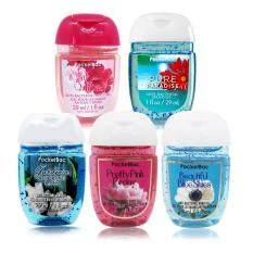 ขาย Bath Body Works Pocket Bac Sanitizing Hand Gel Set Of Flower กลิ่น Pinkchiffon Pure Paradise Gardenia Spingrain Prettypink Peony And Beautiful Blue Skies 29Ml X5 Bath Body Works ถูก