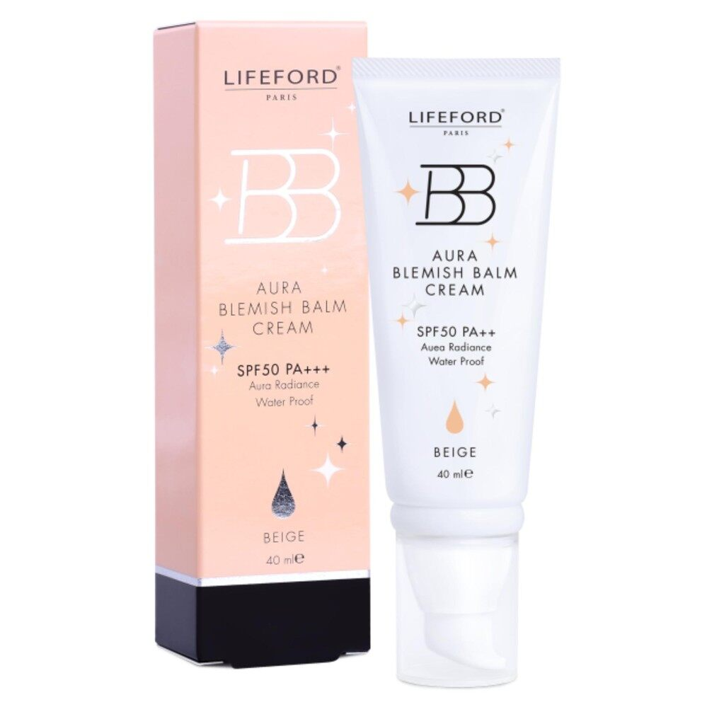 Lifeford Paris BB Aura Blemish Balm Cream SPF50 PA++ (Beige)