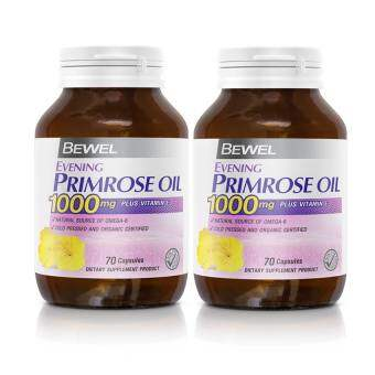 Bewel Evening Primrose Oil 1000mg Plus vitamin E  (70 Capsule) (แพ๊คคู่)