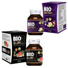 ราคา เซ็ตคู่ Bio ลดน้ำหนัก Bio Detox ไบโอ ดีท็อกซ์ ดีท็อกซ์ ขนาด 30 เม็ด Bio Slim ไบโอ สลิม ขนาด 30 เม็ด อย่างละ 1 กล่อง Bio C Thailand
