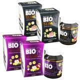 ราคา เซ็ตคู่ Bio ลดน้ำหนัก Bio Detox ไบโอ ดีท็อกซ์ ดีท็อกซ์ ขนาด 30 เม็ด Bio Slim ไบโอ สลิม ขนาด 30 เม็ด อย่างละ 2 กล่อง ใหม่