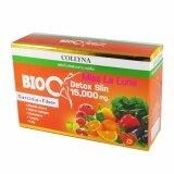 ราคา Bio C Detox Slin 15 000 Mg Garcinia Fiber By Collyna ผลิตภัณฑ์เสริมอาหาร ช่วยการขับถ่าย ล้างสารพิษ บรรจุ 10 ซอง 1 กล่อง ใหม่ ถูก