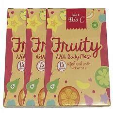 ราคา Bio C Fruity Aha Body Mask ฟรุ๊ตตี้ บอดี้ มาส์ค 50G 1ซอง 3กล่อง ออนไลน์ กรุงเทพมหานคร