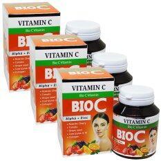 ขาย Bio C Vitamin Alpha Zinc 1 500 Mg ไบโอ ซี วิตามิน ขนาด 30 เม็ด 3 กล่อง ผู้ค้าส่ง