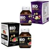 ขาย Bio Slim ไบโอ สลิม ขนาด30 เม็ด 1กล่อง Bio Detox ไบโอ ดีท็อกซ์ ขนาด30 เม็ด 1 กล่อง 1 ชุด อาหารเสริมลดน้ำหนัก ล้างสารพิษ ระเบิดไขมันกระจาย หุ่นสวย ผิวใสไร้ไขมันส่วนเกิน Benne เป็นต้นฉบับ