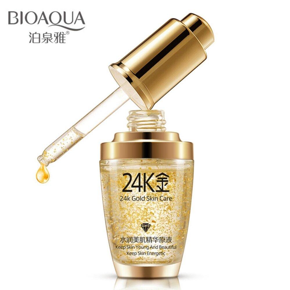 มอยเจอร์ไรเซอร์-BIOAQUA 24K Gold 30ml เซรั่มผสมทองคำบริสุทธิ์ ลดเลือนริ้วรอย ฝ้า กระ จุดด่างดำ ผิวหน้าขาวใส 1 ชิ้น