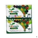 ราคา Bioveggie ไบโอเวกกี้ ผลิตภัณฑ์เสริมอาหาร ผักอัดเม็ด 12 ชนิด จำนวน 2 กล่อง 60 ซอง X 5 เม็ด