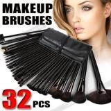 ราคา Black 32Pcs Cosmetic Make Up Makeup Brushes Brush Set Kit Leather Case Unbranded Generic เป็นต้นฉบับ