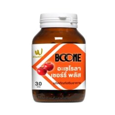 ซื้อ Boone Acerola Cherry Plus อาหารเสริมเพื่อผิวกระชับลดริ้วรอย 30เม็ด 1ขวด Boone ถูก