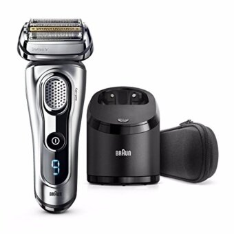 Braun เครื่องโกนหนวดไฟฟ้า รุ่น Series 9 9290cc Electric Shaver with Cleaning Center Razor Cordless Shaving System - Silver