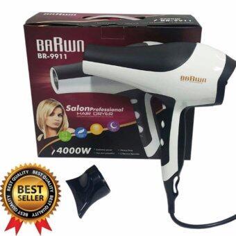 RBORON ไดร์เป่าผมมืออาชีพ กำลังแรง BARWN 4000 watt รุ่น Salon Dryer BR-9911 (White) รุ่นยอดนิยมร้านซาลอนใช้งานดีมาก