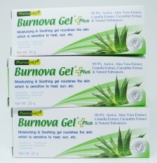 ซื้อ Burnova Gel Plus เบอร์นโนว่า เจล พลัส 25กรัม X 3 หลอด ช่วยลดริ้วรอย จุดด่างดำ ปราศจากแอลกอฮอล์ น้ำหอม แต่งสี กลิ่น Vitara ออนไลน์