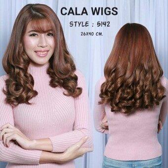Cala wigs แฮร์พีช(5142)#สีน้ำตาลทอง