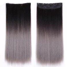 ซื้อ Cala Wigs แฮร์พีชตรง แฮร์พีชตรง สีดำเทา ออนไลน์